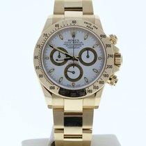 Rolex Daytona Жёлтое золото 40mm Белый