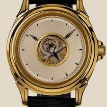 Omega De Ville Central Tourbillon Yellow gold 38.4mm Silver