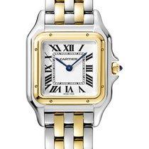 Cartier new Quartz 27mm Gold/Steel Sapphire crystal