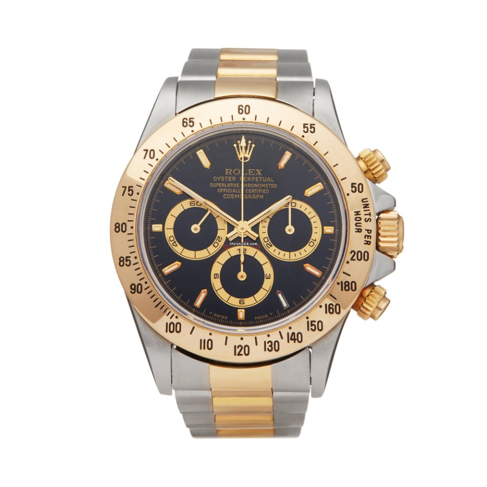 san francisco efae9 3c28a Rolex Daytona Zenith 200 Bezel Stainless Steel & 18K Yellow Gold 16523 -  W5956