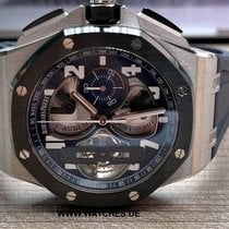 오드마피게 Royal Oak Offshore Tourbillon Chronograph 플라티늄 44mm 파란색