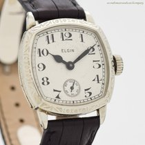 Elgin White gold Manual winding Arabic numerals 30mm pre-owned