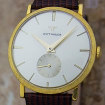 Wittnauer Yellow gold Manual winding Black 32mm pre-owned