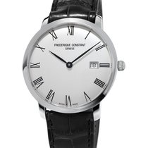 Frederique Constant Slimline Automatic Staal 40mm Wit Romeins