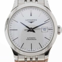 Longines Record pre-owned 30mm Grey Steel