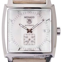 TAG Heuer Monaco Lady pre-owned 37mm Leather