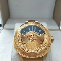 Versace Yellow gold Automatic Black pre-owned