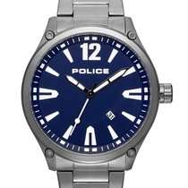 Police Steel 48mm Quartz PL15244JBU.03M new