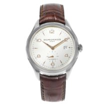 Baume & Mercier Clifton pre-owned 41mm Silver Date Leather