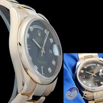 Rolex Oyster Perpetual Day-Date Everosegold 36mm | Diamant/Rub...