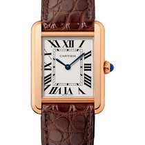 Cartier Tank Solo Rose Gold Watch on Leather Strap