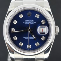 Rolex Datejust 36MM Steel With Blue Diamond Dial,Full Set MINT