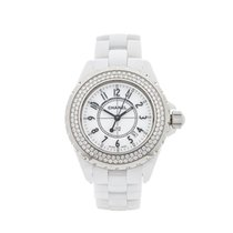 Chanel J12 White Ceramic Ladies H0967 - W4330