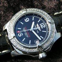 Breitling Colt Oceane Lady A77380 Black Dial Steel Diamonds...