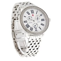 Michele Serein Diamond Day/Date Swiss Chronograph Watch...