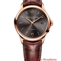 Baume & Mercier Red gold Automatic Grey Arabic numerals 38.8mm new Clifton