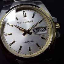 Wittnauer Day Date Diamond Dual Tone Full Set White Dial by...