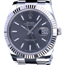 Rolex Oyster Datejust II Rhodium Dial WG Bezel 41 mm (NEW 2017)