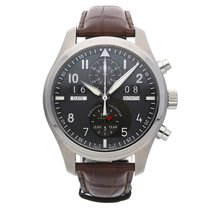 IWC Fliegeruhr Spitfire Perpetual Calendar Digital Date-Month IW3791-07 Sehr gut Stahl 46mm Automatik