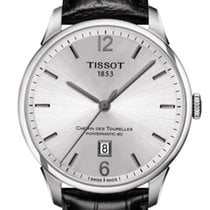 Tissot Chemin de Tourelles Steel 42mm Silver Arabic numerals