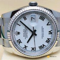Rolex Datejust Ocel 36mm Bílá Římské
