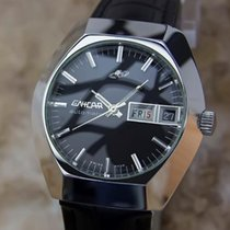 Enicar Steel 36mm Automatic pre-owned United States of America, California, Beverly Hills