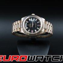 Rolex Crveno zlato Automatika Crn Bez brojeva 41mm rabljen Day-Date II