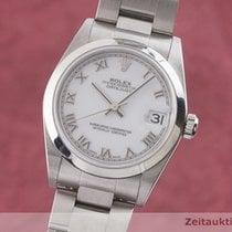 Rolex Stahl Automatik Weiß 30mm gebraucht Lady-Datejust