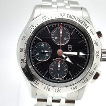 Tudor Chronautic pre-owned 41mm Black Chronograph Date Steel