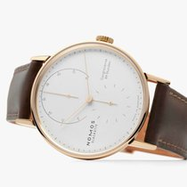 NOMOS Red gold Manual winding Silver 39mm new Lambda