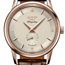 Longines Flagship Heritage Rose gold 38.5mm Silver United States of America, New York, Airmont