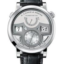 A. Lange & Söhne Platinum Manual winding Silver 44.2mm new Zeitwerk