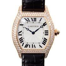 Cartier Tortue Oro rosado 34mm Blanco