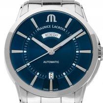 Maurice Lacroix Pontos Day Date Edelstahl Automatik Armband...