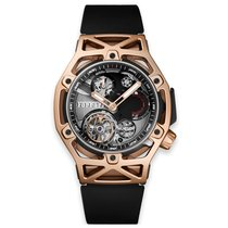 Hublot Techframe Ferrari Tourbillon Chronograph Oro rosado 45mm Negro
