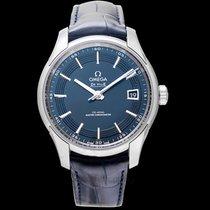 Omega De Ville Hour Vision Blue Steel/Leather 41mm - 433.33.41...
