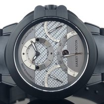 Harry Winston new Automatic Small Seconds Screw-Down Crown PVD/DLC coating 44mm Carbon Sapphire Glass