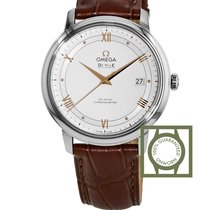 Omega De Ville Prestige Co-Axial 39.5 mm White Dial Leather Strap