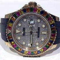 Rolex Yacht-Master Rainbow Bezel Pave Diamond - 116695 SATS