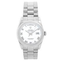 Rolex Day-Date 36 White gold 36mm White Roman numerals