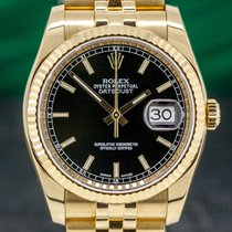 Rolex Datejust Yellow gold 36mm Black Roman numerals