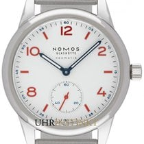 NOMOS Club Neomatik Steel 37mm White