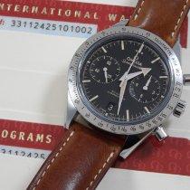 Omega Speedmaster '57 gebraucht 41.5mm Schwarz Chronograph Datum Tachymeter Leder
