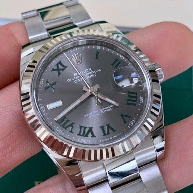 Rolex Datejust 41mm Wimbledon 126334 Gray Slate Dial W/ Box \u0026 Papers