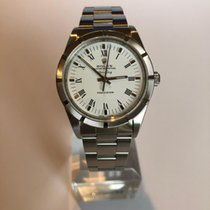 Rolex Air King Precision Acero 34mm Blanco Romanos