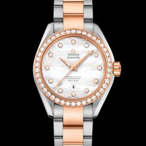 Omega Seamaster Aqua Terra Gold/Steel 34mm Mother of pearl