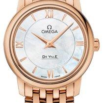 Omega Rose gold Quartz Mother of pearl 27.4mm new De Ville Prestige