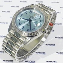 Rolex Day-Date Oyster Perpetual Baguette Bezel Arabic Numerals...