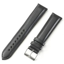 Fortis Leather Strap Black T/t With Brushed Pin Buckle...