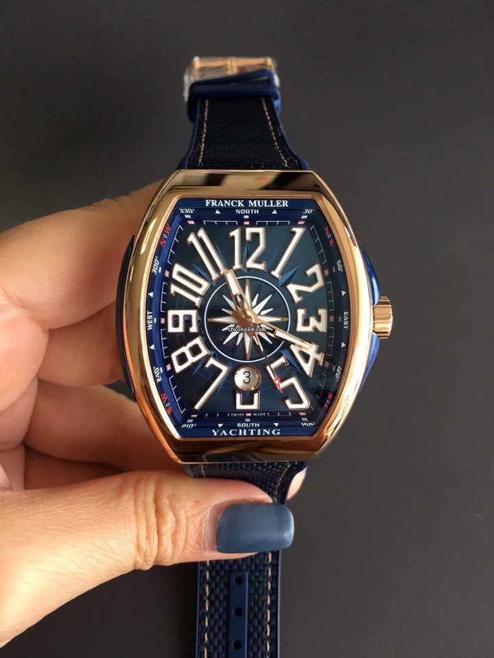 Tag Watches For Sale >> Franck Muller V45 Vanguard Yachting Auto Rose Gold for $12,573 for sale from a Trusted Seller on ...
